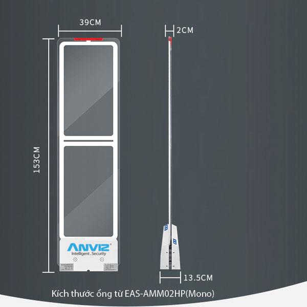 kích thước Cổng Từ An Ninh AM EAS-AMM02HP (Mono)