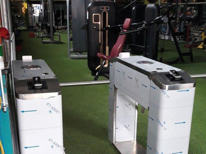 Công Trình Lắp Đặt Cổng Xoay Cho Phòng Gym.